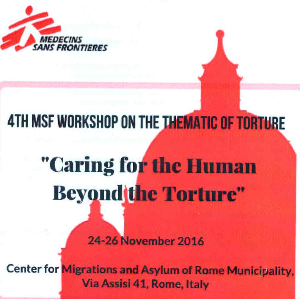 4th MSD Workshop on the Thematic of Torture. Intervento di Piero Coppo